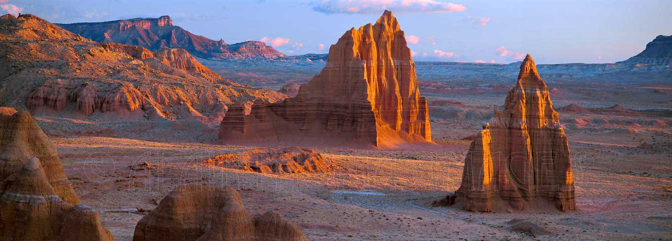 Temples of the Sun & of the Moon, Valley of the Cathedrals, Capitol Reef National Park, Utah