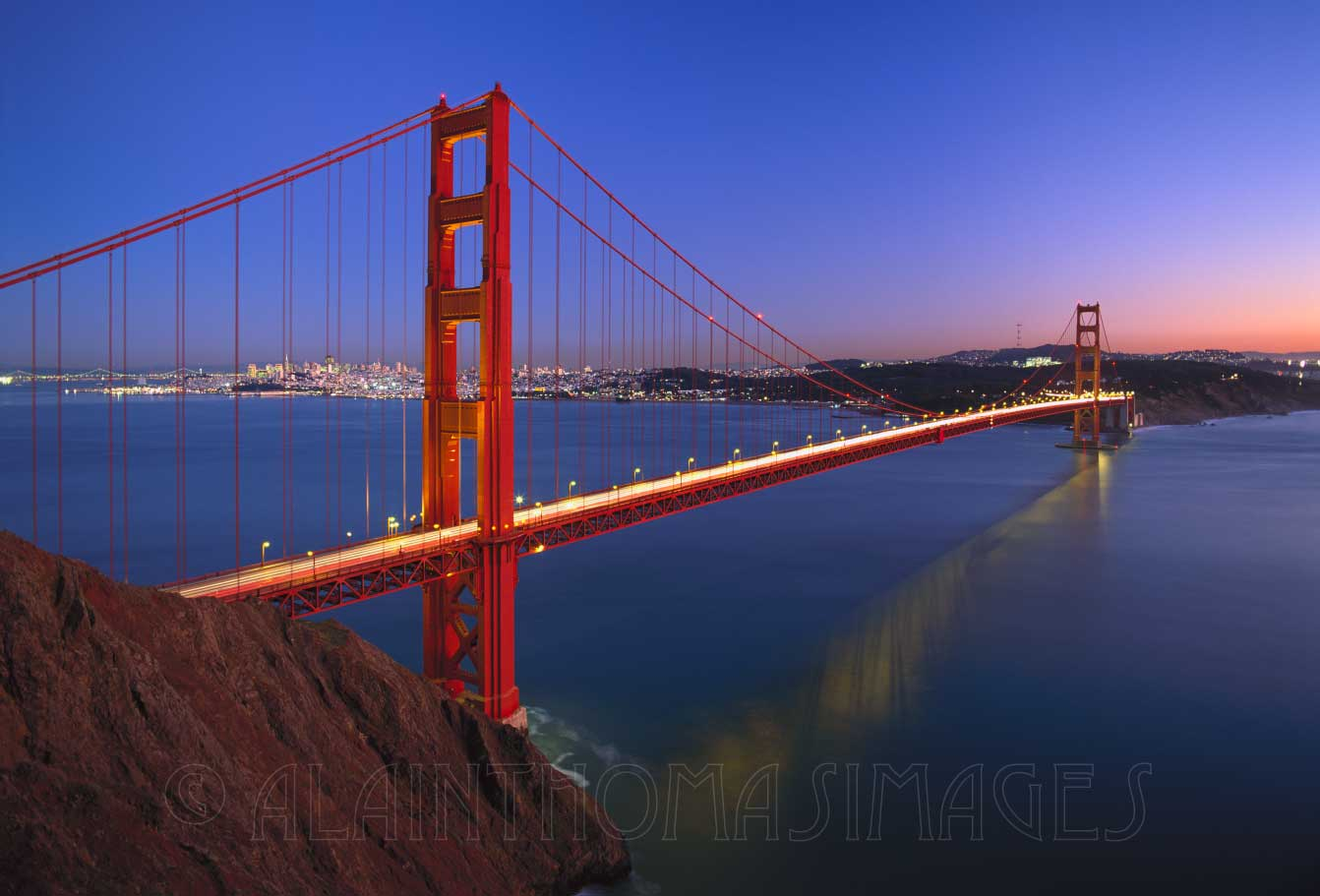 Golden Gate Bridge au crépuscule, San Francisco