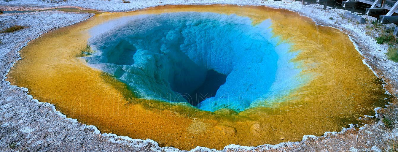Morning Glory Pool geyser, Upper Geyser Basin, Yellowstone National Park, Wyoming