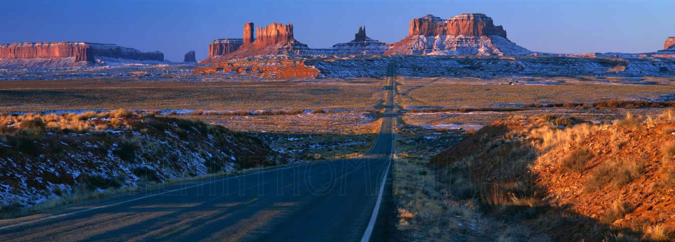 US Highway 163 through Monument Valley Navajo Tribal Park, Utah & Arizona