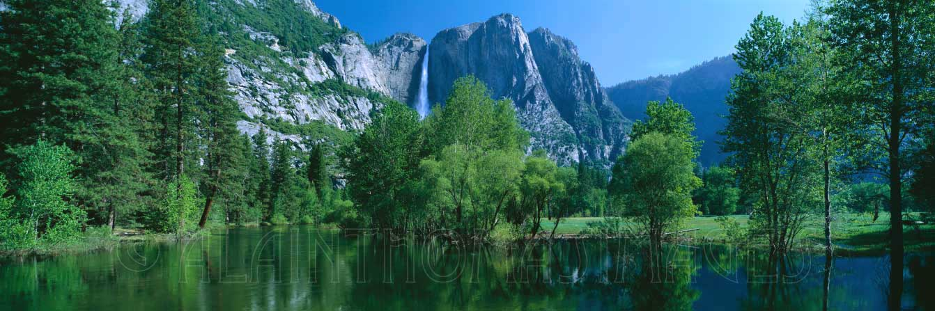 Yosemite Falls & Merced River, Yosemite National Park, California